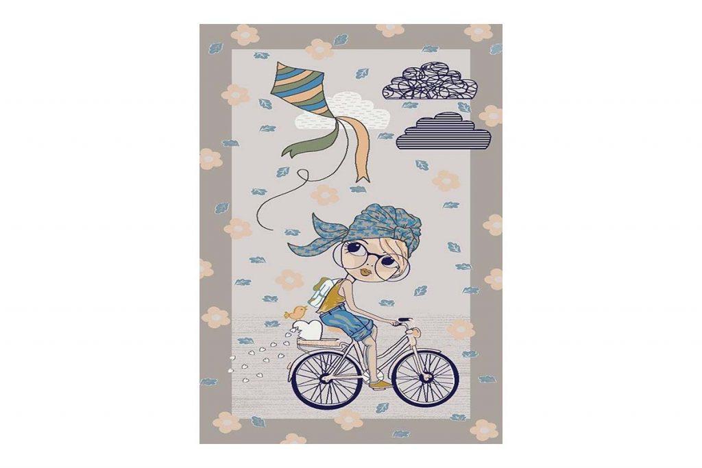 فرش کودک دوچرخه سوار