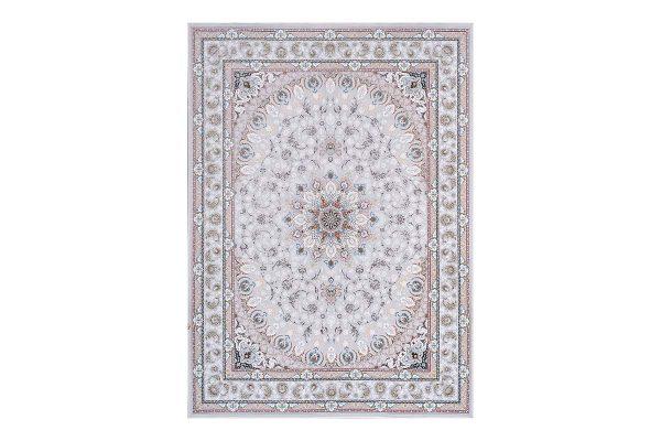 فرش گل برجسته 1500 شانه طرح نایین رنگ الماسی