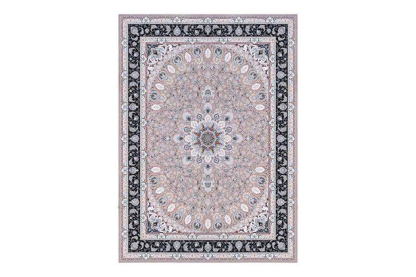 فرش گل برجسته 1500 شانه طرح نایین رنگ بژ