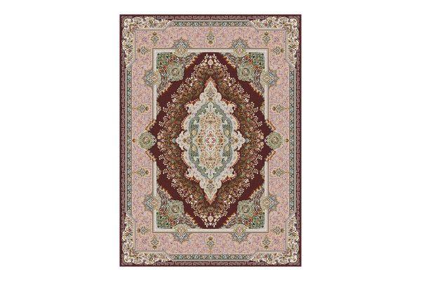 فرش گل برجسته طرح نارملا رنگ لاکی2