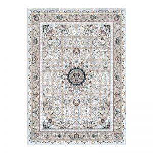 فرش گل برجسته 1500 شانه طرح نازنین رنگ الماسی