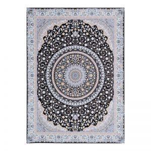 فرش گل برجسته 1500 شانه طرح صدف رنگ دودی