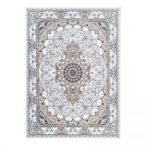 فرش گل برجسته 1500 شانه طرح تبسم رنگ الماسی