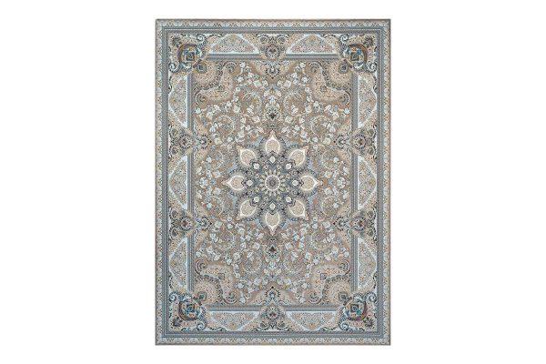 فرش گل برجسته 1500 شانه طرح یادگار رنگ بژ