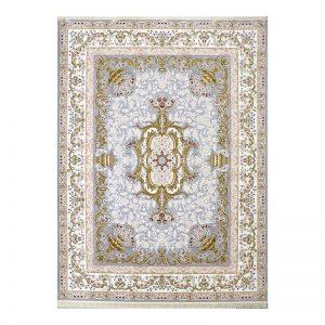 فرش گل برجسته طرح آلیس رنگ الماسی