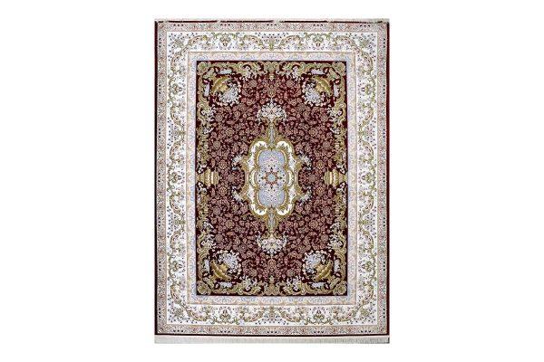 فرش گل برجسته طرح آلیس رنگ لاکی
