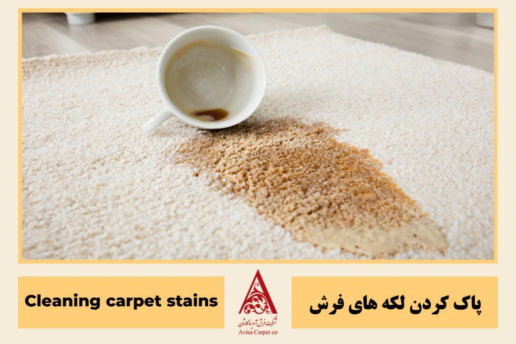 پاک کردن لکه از روی فرش