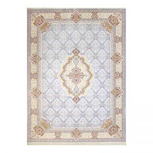 فرش گل برجسته طرح گلچین رنگ الماسی