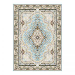 فرش گل برجسته 1500 شانه طرح هلنا رنگ الماسی