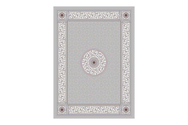 فرش 1200شانه گل برجسته طرح جمیله رنگ فیلی