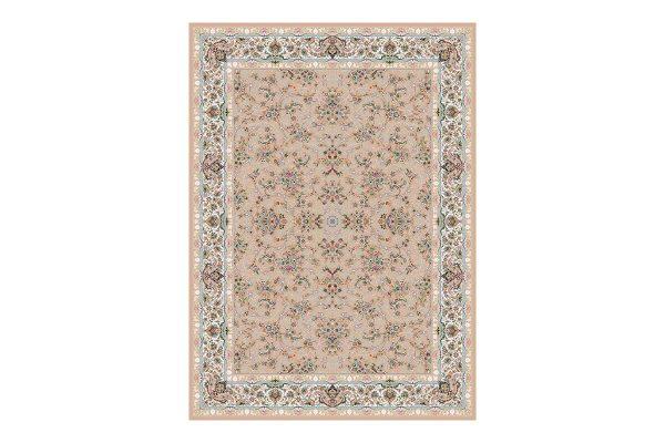 فرش 1200 شانه گل برجسته طرح کندوان رنگ بژ