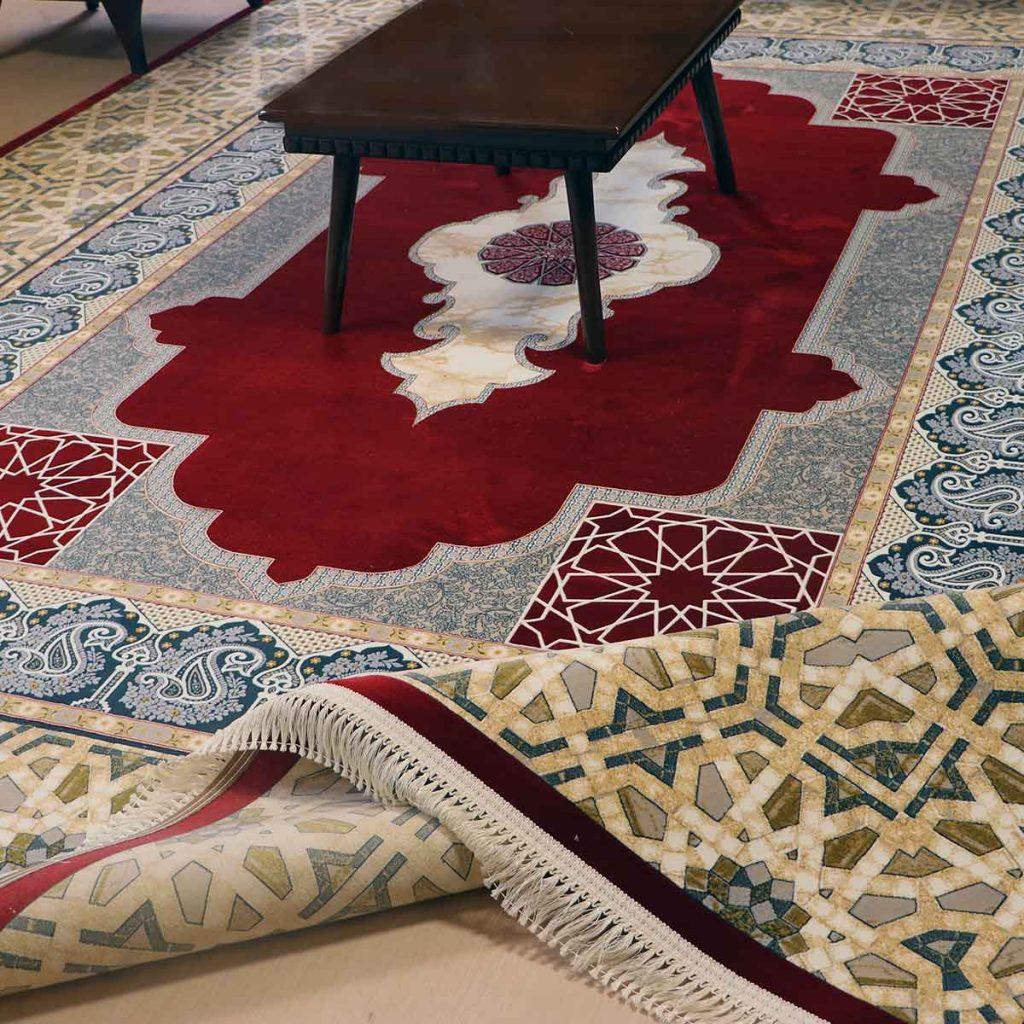 فرش 1200 شانه میرال رنگ لاکی