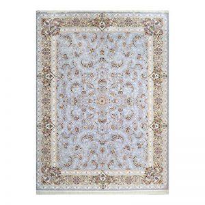 فرش گل برجسته طرح نجوا رنگ الماسی
