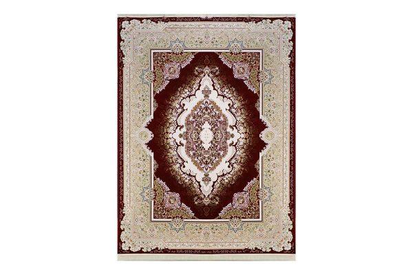 فرش گل برجسته طرح نارملا رنگ لاکی1