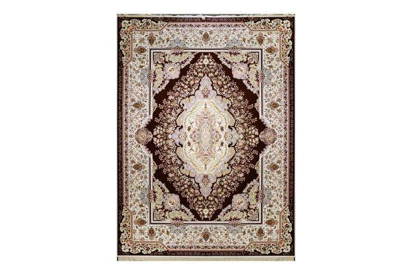 فرش گل برجسته طرح نارملا رنگ لاکی