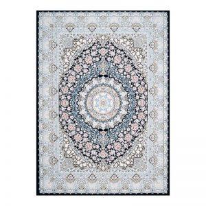 فرش گل برجسته 1500 شانه طرح نقره رنگ نقره ای