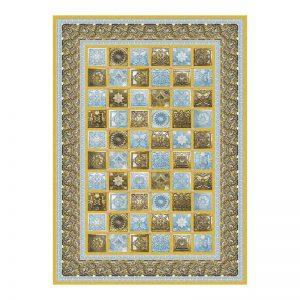 فرش گل برجسته 1500 شانه طرح  نیاز رنگ زرد
