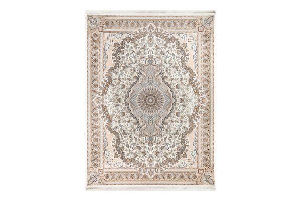 فرش گل برجسته 1500 شانه طرح رژینا رنگ دودی