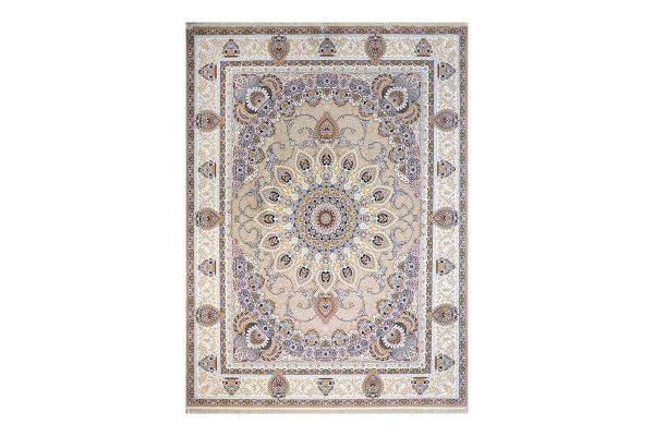 فرش گل برجسته طرح رویا رنگ بژ