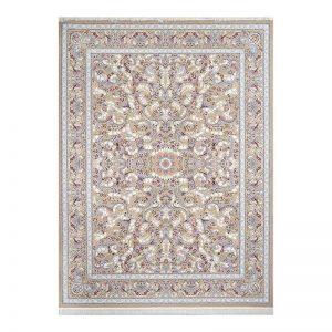 فرش گل برجسته طرح رزدیس رنگ بژ