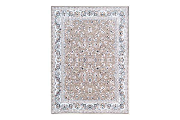 فرش گل برجسته 1500 شانه طرح سالار رنگ بژ