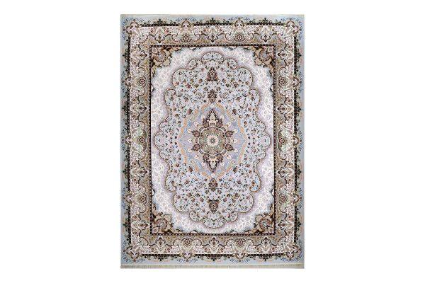 فرش گل برجسته طرح شاهانه رنگ ابری