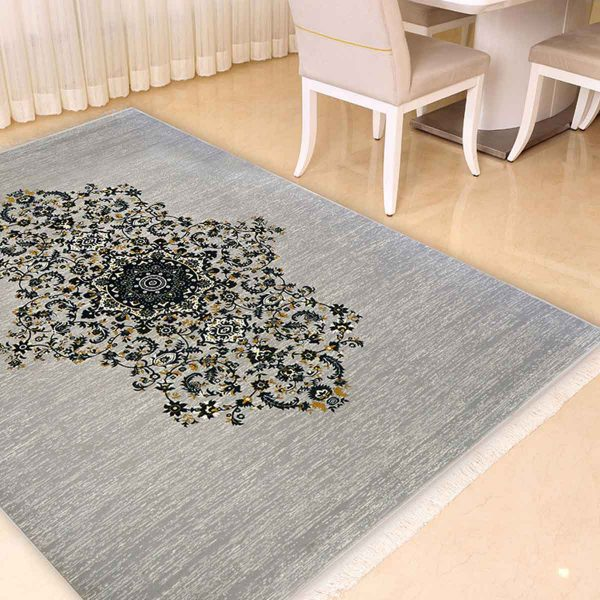 فرش مدرن طرح تک ترنج
