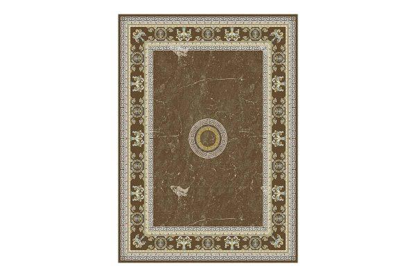 فرش گل برجسته 1500 شانه طرح ورساچه رنگ دودی
