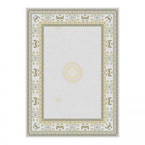 فرش گل برجسته 1500 شانه طرح ورساچه رنگ الماسی