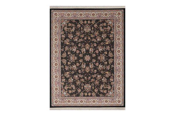 فرش 1200 شانه گل برجسته زنبق ذغالی